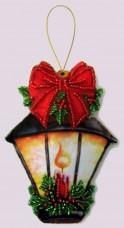 Набор для изготовления игрушки из фетра для вышивки бисером Фонарик Баттерфляй (Butterfly) F096
