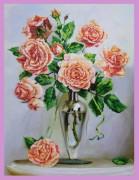 Набор для вышивки бисером Розы на мраморном столике
