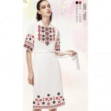 Заготовка женского платья на белом льне Biser-Art Bis6046 белый лен