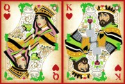 Схема вышивки бисером на атласе Дворцовая любовь Диптих