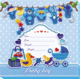 Набор для вышивки бисером на холсте Метрика для мальчика Абрис Арт АВ-604 - 214.00грн.