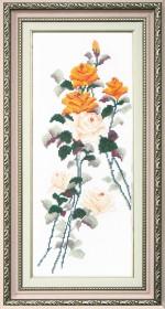 Набор для вышивки крестом Этюд с жёлтыми розами