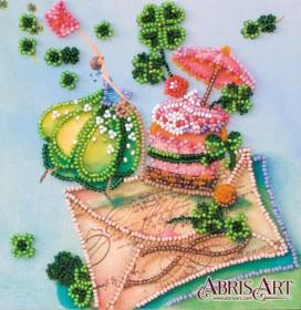 Набор-мини для вышивки бисером на натуральном художественном холсте Письмо счастья