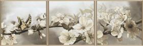 Набор для вышивки в смешанной технике Цветущий сад (Триптих), , 902.00грн., ННК6502, Новая Слобода (Нова слобода), Картины из нескольких частей