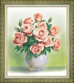 Набор для вышивки бисером Кремовые розы