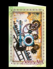 Набор для вышивки бисером Открытка-конверт Гитара Абрис Арт АОМ-014 - 89.00грн.