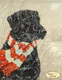 Схема вышивки бисером на атласе Охотник, , 55.00грн., ТМ-112, Tela Artis (Тэла Артис), Собака символ 2018 года своими руками