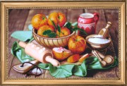 Набор вышивки бисером Персики на столе