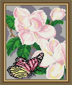 Набор для выкладки алмазной техникой Магнолии Триптих Часть 1, , 280.00грн., AT5560, Art Solo, Алмазная мозаика
