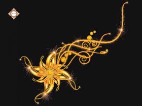 Схема для вышивки бисером на атласе Цветок исполнения желаний