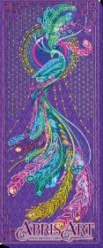 Набор для вышивки бисером на холст Перо жар-птицы