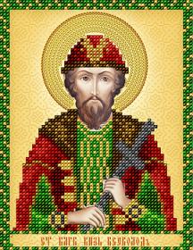 Схема вышивки бисером на атласе Св. благоверный князь Всеволод А-строчка АС5-149 - 34.00грн.