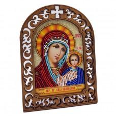Набор для вышивки бисером на деревяной основе Казанская Вдохновение IKF01
