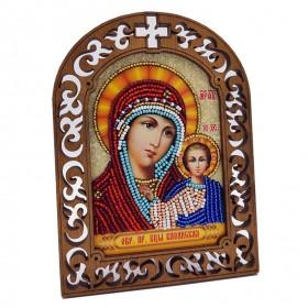 Набор для вышивки бисером на деревяной основе Казанская Вдохновение IKF01 - 175.00грн.