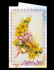 Набор для вышивки бисером Открытка-конверт Свадебные цветы Абрис Арт АОМ-015 - 89.00грн.