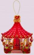 Набор для изготовления игрушки из фетра для вышивки бисером Домик любви