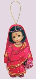 Набор для изготовления куклы из фетра для вышивки бисером Кукла. Индия