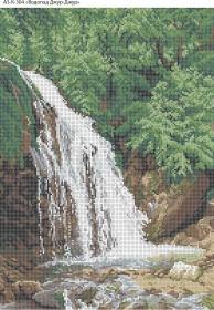 Схема для вышивки бисером на габардине Водопад Джур-Джур, , 70.00грн., А3-К-304, Acorns, Пейзажи и натюрморты