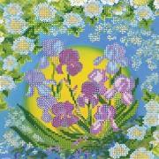 Схема вышивки бисером на холсте Нежные ирисы