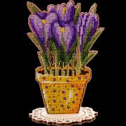 Набор для вышивки по дереву Первоцветы