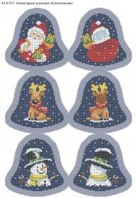 Схема для вышивки бисером на габардине Новогодние игрушки Колокольчик Acorns А3-К-471 - 70.00грн.