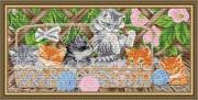 Набор для выкладки алмазной мозаикой Котята на террасе