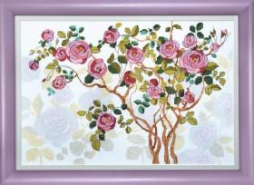 Набор для вышивания в смешанной технике Цветущий шиповник