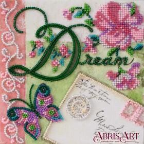 Набор-мини для вышивки бисером на натуральном художественном холсте Мечтай