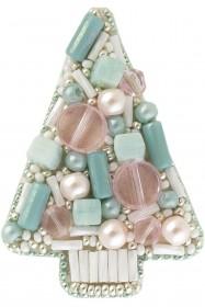 Набор для изготовления броши Голубая ель Cristal Art БП-182 - 86.00грн.