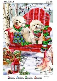 Схема вышивки бисером на атласе Милашки, , 40.00грн., ЮМА-4434, Юма, Собака символ 2018 года своими руками