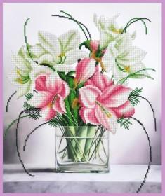 Набор для вышивки бисером Нежный букет, , 440.00грн., Р-354, Картины бисером, Цветы
