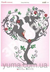 Схема вышивки бисером на атласе Дерево Любви, , 61.00грн., ЮМА-3196, Юма, Схемы и наборы для вышивки бисером по Фен шуй