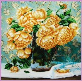 Набор для вышивки бисером Натюрморт с розами Картины бисером Р-349 - 640.00грн.
