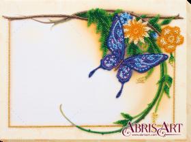 Набор для вышивки бисером Фоторамка Голубая бабочка Абрис Арт АР-006 - 184.00грн.