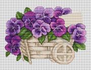 Набор для вышивки крестом Анютины глазки