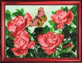 Набор вышивки бисером Бабочки и розы