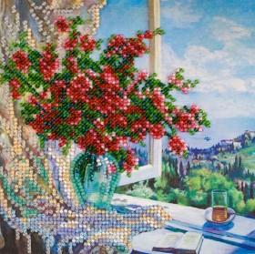 Набор для вышивки бисером на холсте Море за окном