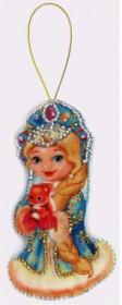 Набор для изготовления игрушки из фетра для вышивки бисером Снегурочка, , 48.00грн., F027, Баттерфляй (Butterfly), Наборы для шитья кукол