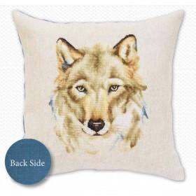 Набор подушки для вышивки крестом Волк Luca-S РВ164 - 441.00грн.