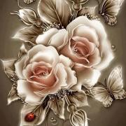 Набор для выкладки алмазной мозаикой Карамельные розы