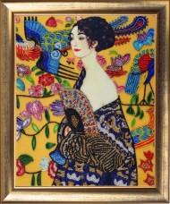 Набор для вышивки бисером Дама с веером (по мотивам Г. Климта) Баттерфляй (Butterfly) 807Б