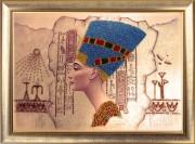 Схема вышивки бисером на атласе Нефертити