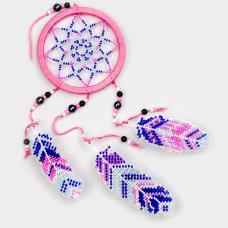 Набор для вышивания бисером на пластиковой основе Ловец снов  Волшебная страна FLPL-027