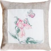 Набор подушки для вышивки крестом Бабочка и цветочек
