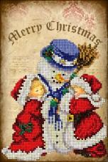 Набор для вышивки ювелирным бисером Рождественские истории 4 Краса и творчiсть 41114