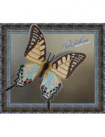 Набор для вышивки бисером на прозрачной основе Бабочка Парусник Протесилай
