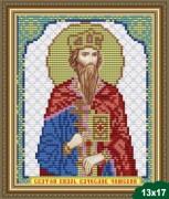 Рисунок на ткани для вышивки бисером Святой Вячеслав