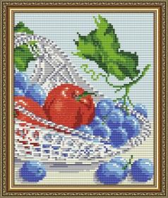 Набор для выкладки алмазной мозаикой В хрустале. Виноград с яблоками диптих 2 Art Solo АТ5550 - 248.00грн.