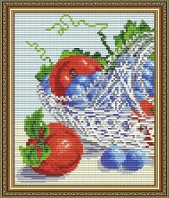 Набор для выкладки алмазной мозаикой В хрустале. Виноград с яблоками диптих 1 Art Solo АТ5549 - 248.00грн.