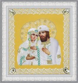 Набор для вышивки бисером Святые Петр и Феврония (ажур) золото Картины бисером Р-375 - 230.00грн.
